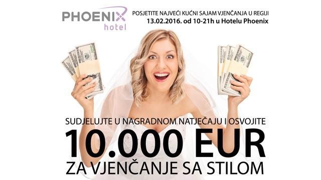 Hotel Phoenix daruje 10 000 eura za Vjenčanje sa stilom